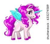cute cartoon unicorn. fantasy... | Shutterstock .eps vector #633274589