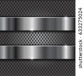 metal brushed shiny plates on... | Shutterstock . vector #633275024
