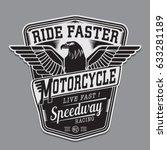 motorcycle speedway eagles... | Shutterstock .eps vector #633281189