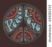 peace love typography  tee... | Shutterstock .eps vector #633281519
