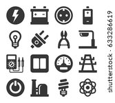 electricity icon set | Shutterstock .eps vector #633286619