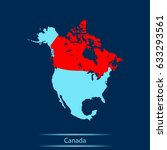 map of canada | Shutterstock .eps vector #633293561