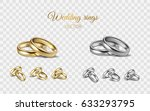 realistic 3d shining set of... | Shutterstock .eps vector #633293795