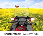Motorcycle With Butterfly Stop...