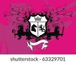 heraldic background in vector... | Shutterstock .eps vector #63329701