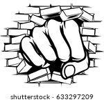 a pop art cartoon fist hand... | Shutterstock .eps vector #633297209