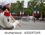 paris. france. july 14  2012.... | Shutterstock . vector #633297245