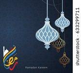 ramadan kareem design... | Shutterstock .eps vector #633299711