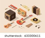 music  vector isometric... | Shutterstock .eps vector #633300611
