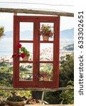 window facing landscape in...   Shutterstock . vector #633302651