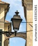 street lamp in albenga  italy.   Shutterstock . vector #633302681