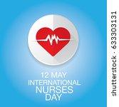vector international nurse day... | Shutterstock .eps vector #633303131