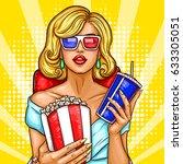 vector pop art illustration of... | Shutterstock .eps vector #633305051