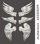 set of vector illustrations of... | Shutterstock .eps vector #633305099