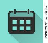 calculator vector icon with... | Shutterstock .eps vector #633308867