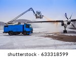 de icing of the airplane | Shutterstock . vector #633318599