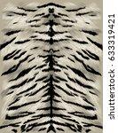 white tiger skin texture sketch ... | Shutterstock .eps vector #633319421