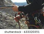 easy belay descender device in...   Shutterstock . vector #633320351