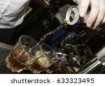 energy drink being poured at a... | Shutterstock . vector #633323495