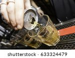 energy drink shot being poured... | Shutterstock . vector #633324479