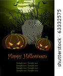 halloween illustration with... | Shutterstock .eps vector #63332575