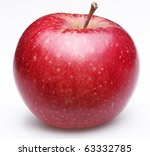 Ripe Red Apple. Isolated On A...