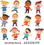 cartoon characters boys and... | Shutterstock .eps vector #633328199