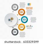 business illustration with 5... | Shutterstock .eps vector #633329399