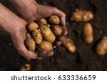 close up of farmers hands... | Shutterstock . vector #633336659