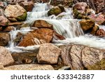 Swift Mountain River In The...