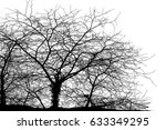 realistic tree silhouette ... | Shutterstock . vector #633349295
