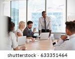 businessman stands to address... | Shutterstock . vector #633351464