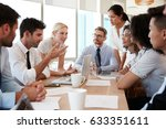 group of businesspeople meeting ... | Shutterstock . vector #633351611