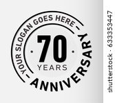 70 years anniversary logo... | Shutterstock .eps vector #633353447