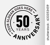50 years anniversary logo... | Shutterstock .eps vector #633353459