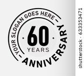 60 years anniversary logo... | Shutterstock .eps vector #633353471