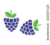 blackberry vector | Shutterstock .eps vector #633357125