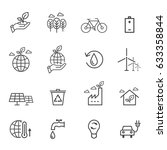 eco icons  | Shutterstock .eps vector #633358844