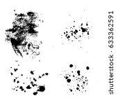 set of different grunge vector... | Shutterstock .eps vector #633362591