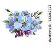 wildflower cherry flower in a... | Shutterstock . vector #633363725