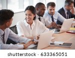 group of businesspeople meeting ... | Shutterstock . vector #633365051