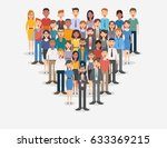 group of business men and women ... | Shutterstock .eps vector #633369215