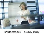 business presentation by female ... | Shutterstock . vector #633371009