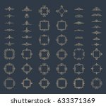 huge rosette wicker border... | Shutterstock . vector #633371369