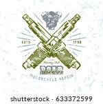 motorcycle repair emblem....   Shutterstock .eps vector #633372599