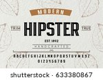 font. alphabet. script.... | Shutterstock .eps vector #633380867