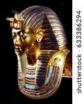 replica of funerary mask of... | Shutterstock . vector #633386294