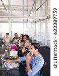 thoughtful business team... | Shutterstock . vector #633389759