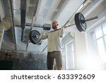 portrait of modern strongman... | Shutterstock . vector #633392609