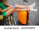 young beautiful sexy woman ... | Shutterstock . vector #633393899